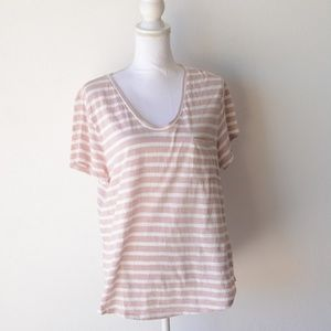 Ann Taylor LOFT Womens Striped T shirt top XL